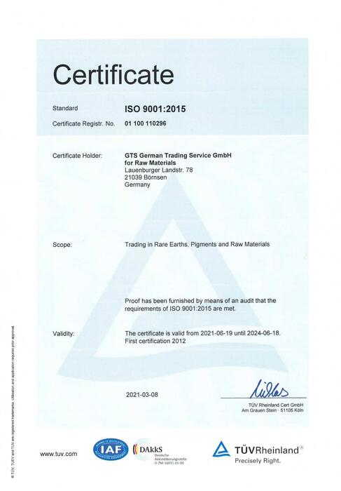 Certificate from 2021-03-08